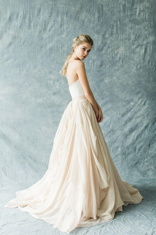 Fleur wedding dress  Fleur Bustier Kensington skirt  Wedding  Pinterest  Wedding