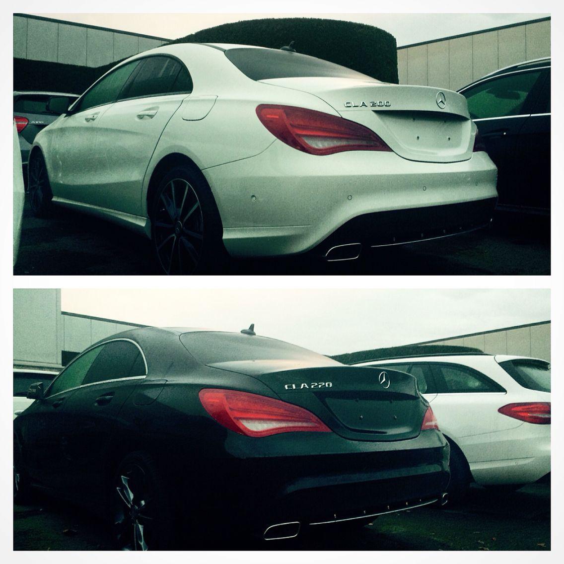 Mercedes Benz White CLA 200 Vs. Black CLA 220