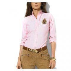 Camisa Ralph Lauren Mujer 1004 De Algodón En Color Rosa Camisas Camisas Ralph Lauren Mujer Moda