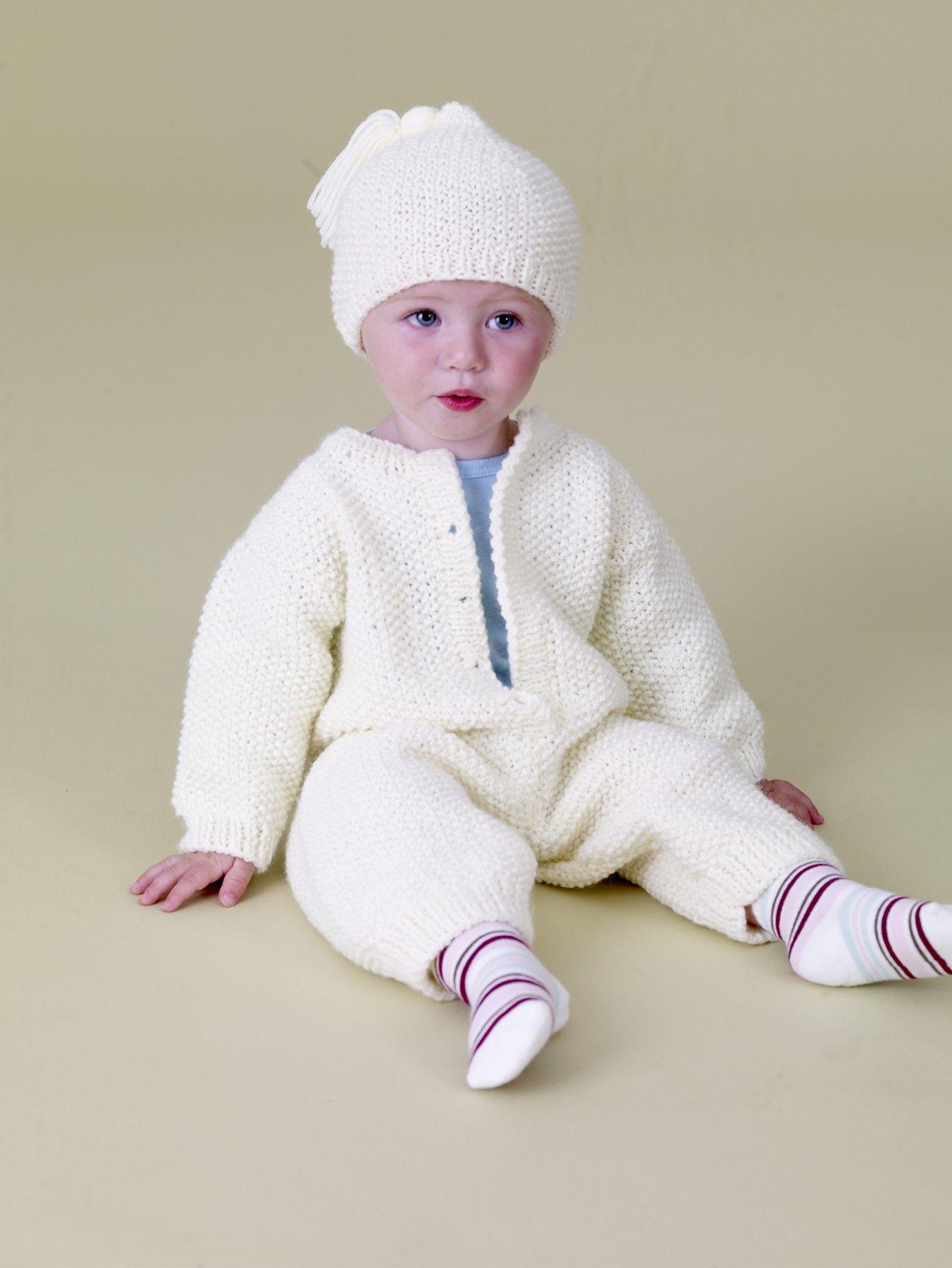 Baby Love Romper and Hat Pattern (Knit)   Adaline   Pinterest ...