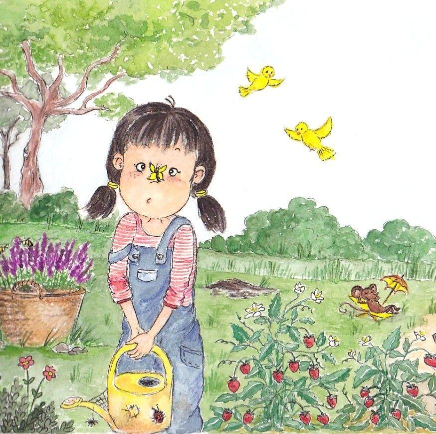 Aquarell Madchen Von Ashok Narwal Auf Girl Illustration In 2020