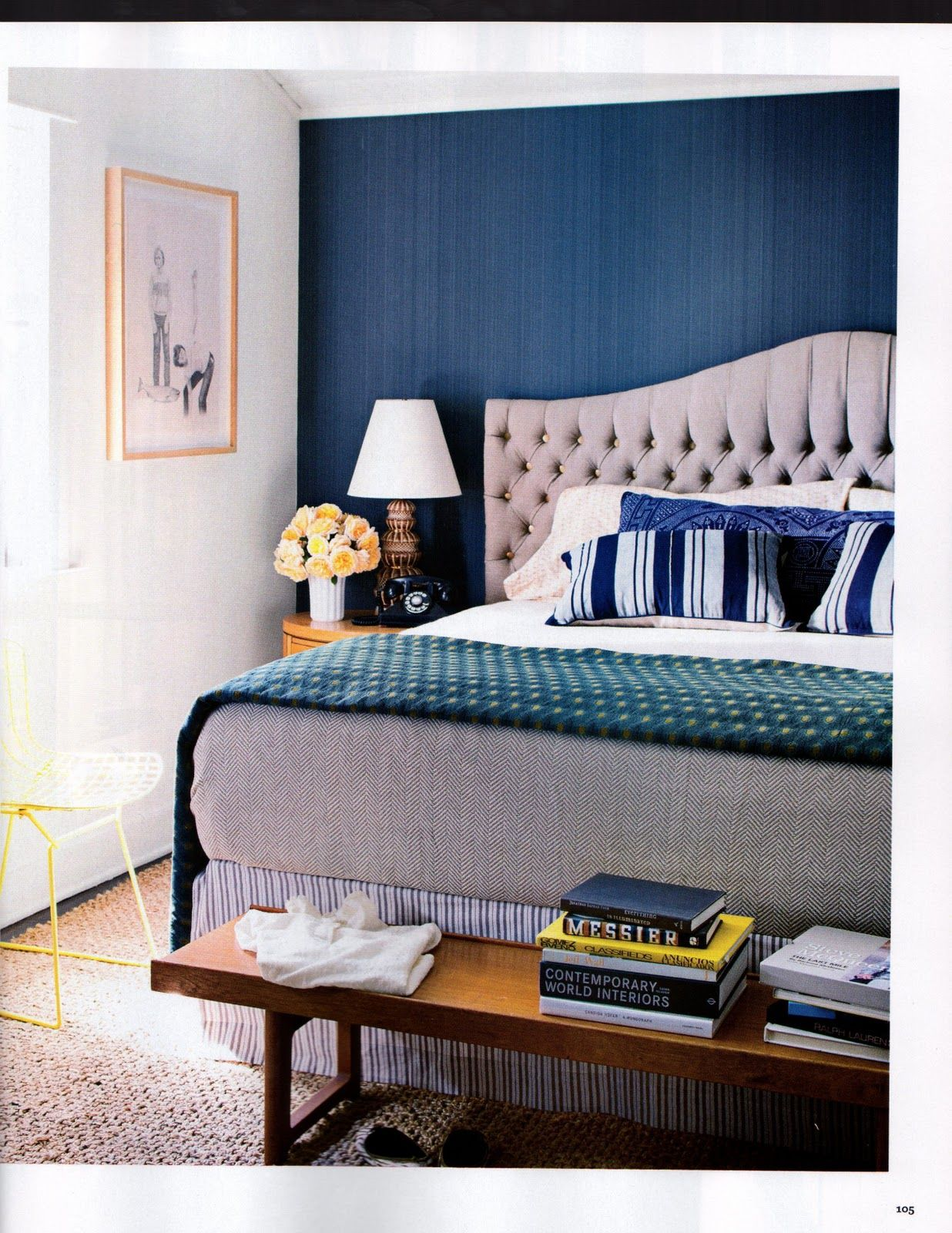 Blue modern master bedroom - The Beauty Room Interior Design In Purple Accent Wall Bedroom At