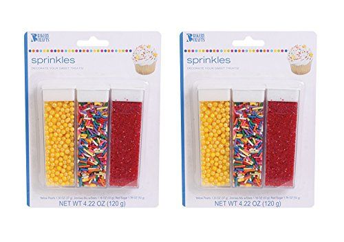 Celebration Sprinkles Set Of 6 Easy Pour Containers Yellow And Red 8 5oz Total Bakery Crafts Http Www Amazon Com Dp B Sprinkles Bakery Crafts Container
