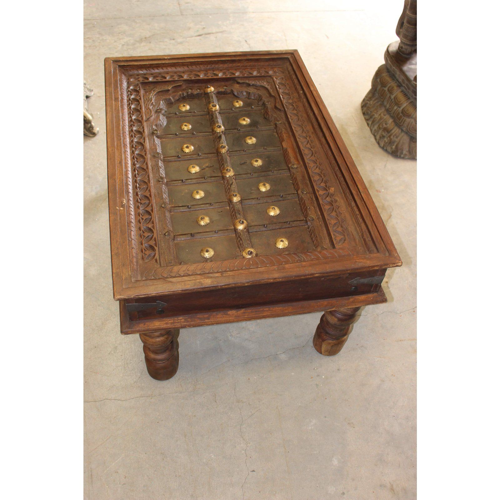 Antique Indian Hand Carved Brass Medallions Farmhouse Chai Coffee Table Coffee Table Antique Coffee Tables Indian Coffee Table [ 1600 x 1600 Pixel ]