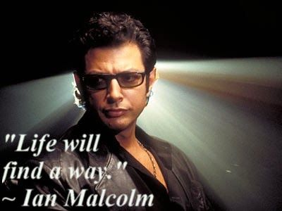 Jurassic Park Ian Malcolm Quote Life Will Find A Way