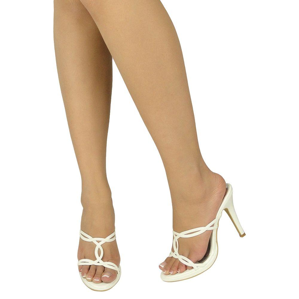 s dress sandals slip on high heel strappy cutout