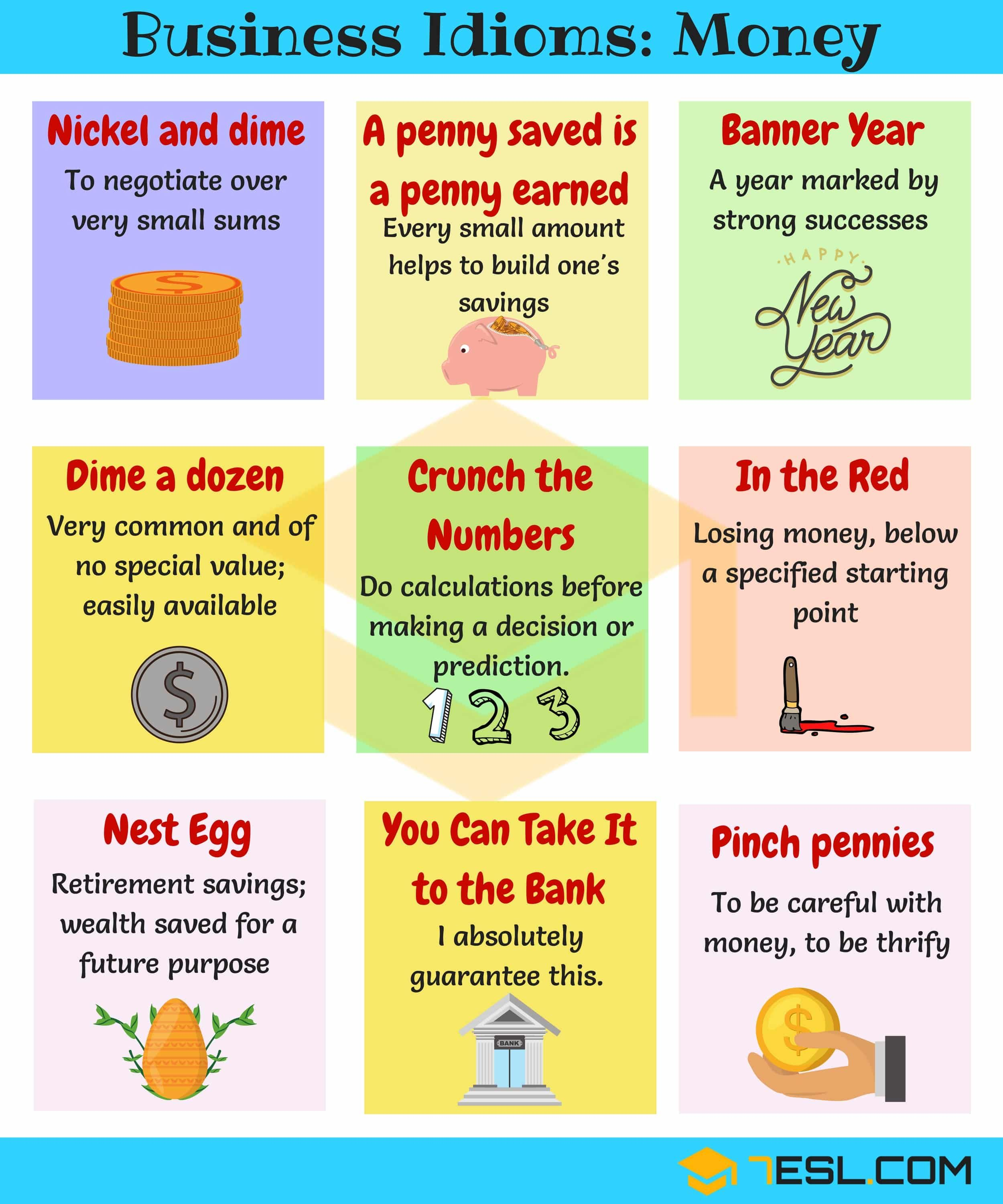 Money Idioms Amp Sayings Idioms About Money And Finance
