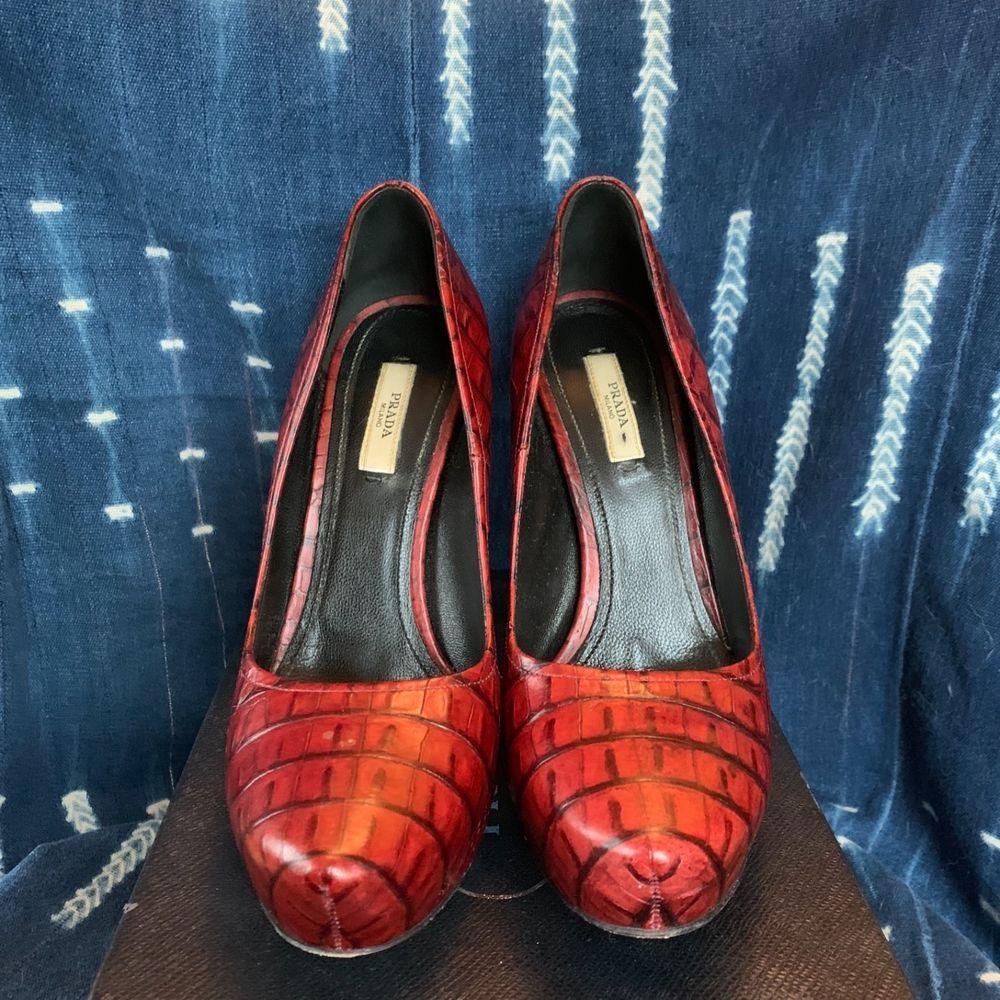 9d84ba8f0b6d9 Prada red Calzature Donna st. cocco bataga pumps size 38 very ...