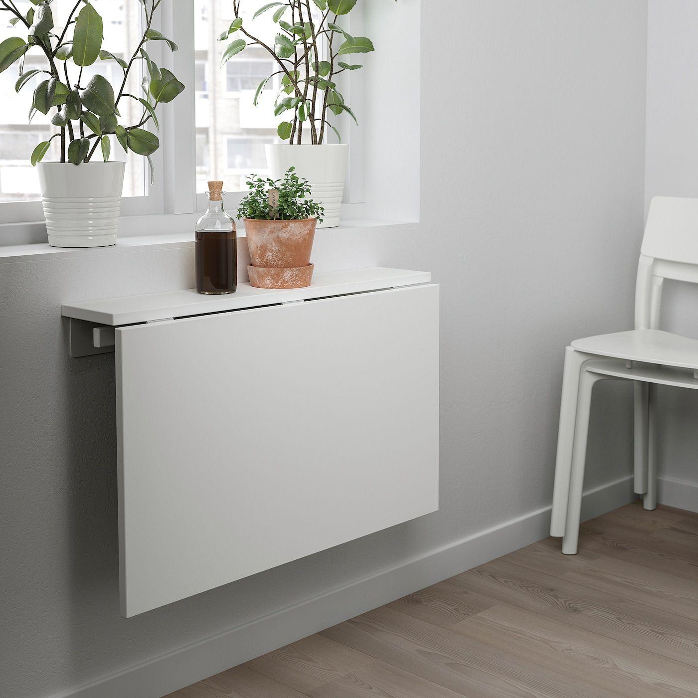 Norberg Wall Mounted Drop Leaf Table White 74x60 Cm In 2020 Wandklapptisch Ikea Klapptisch Klapptisch Wand