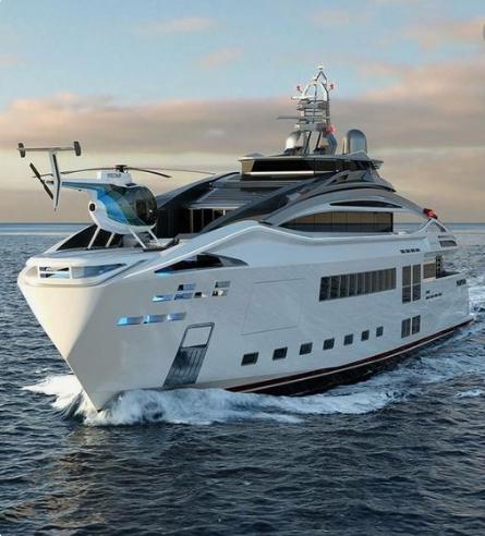 Luxury Future Mega Yacht Concept Yacht Sea Future Concept