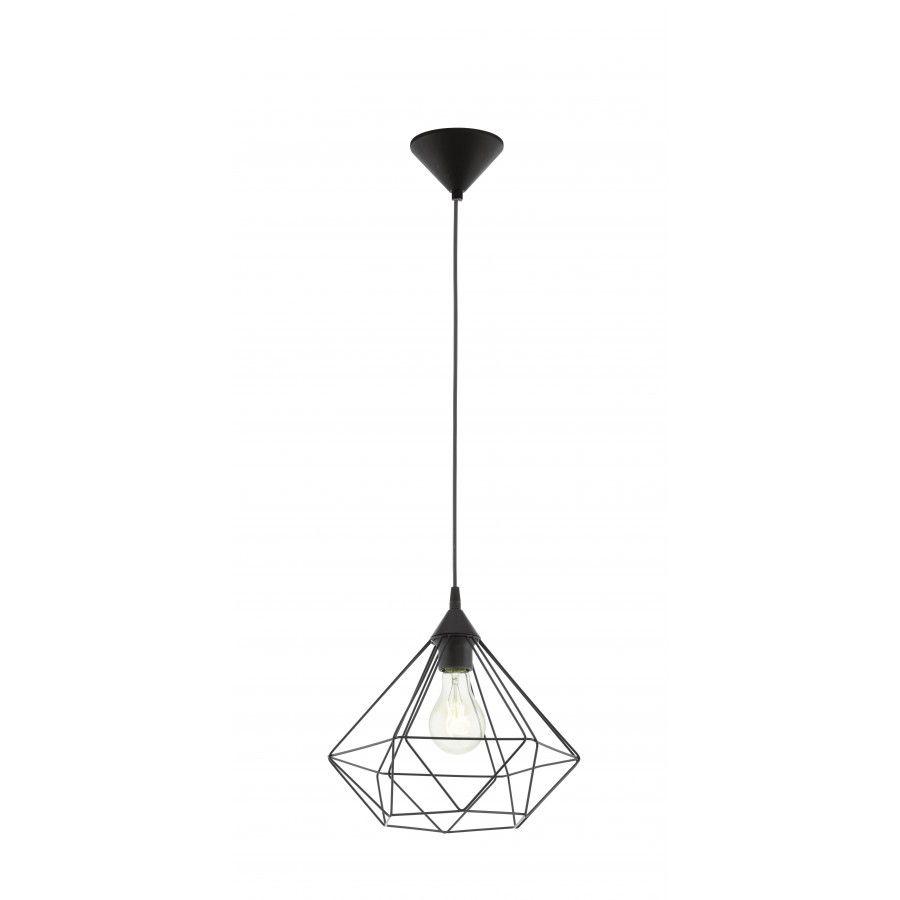 suspension tarbes acier noir e27 1x60w eglo chez mr bricolage lampes pinterest acier. Black Bedroom Furniture Sets. Home Design Ideas