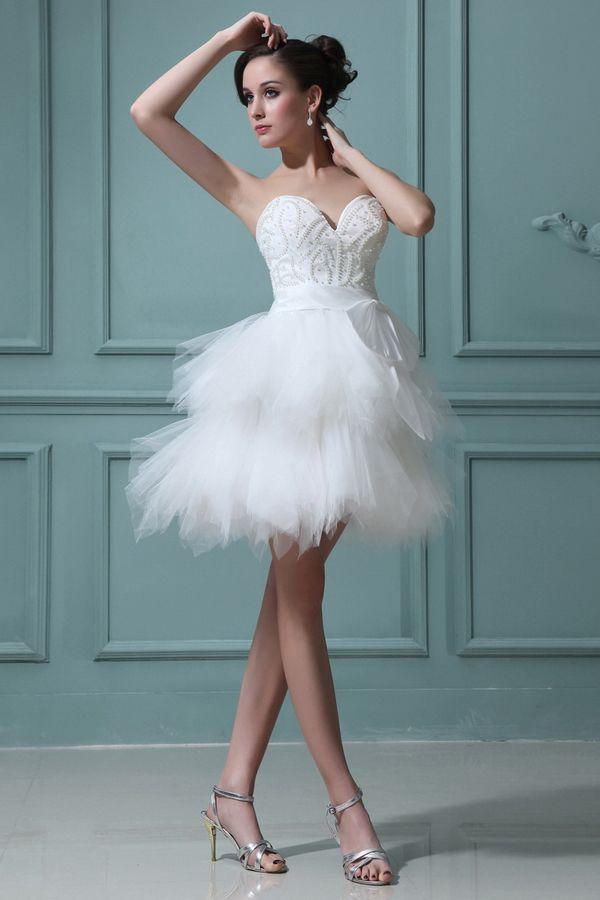 Modern White Tulle Wedding Gown - Order Link: http://www ...