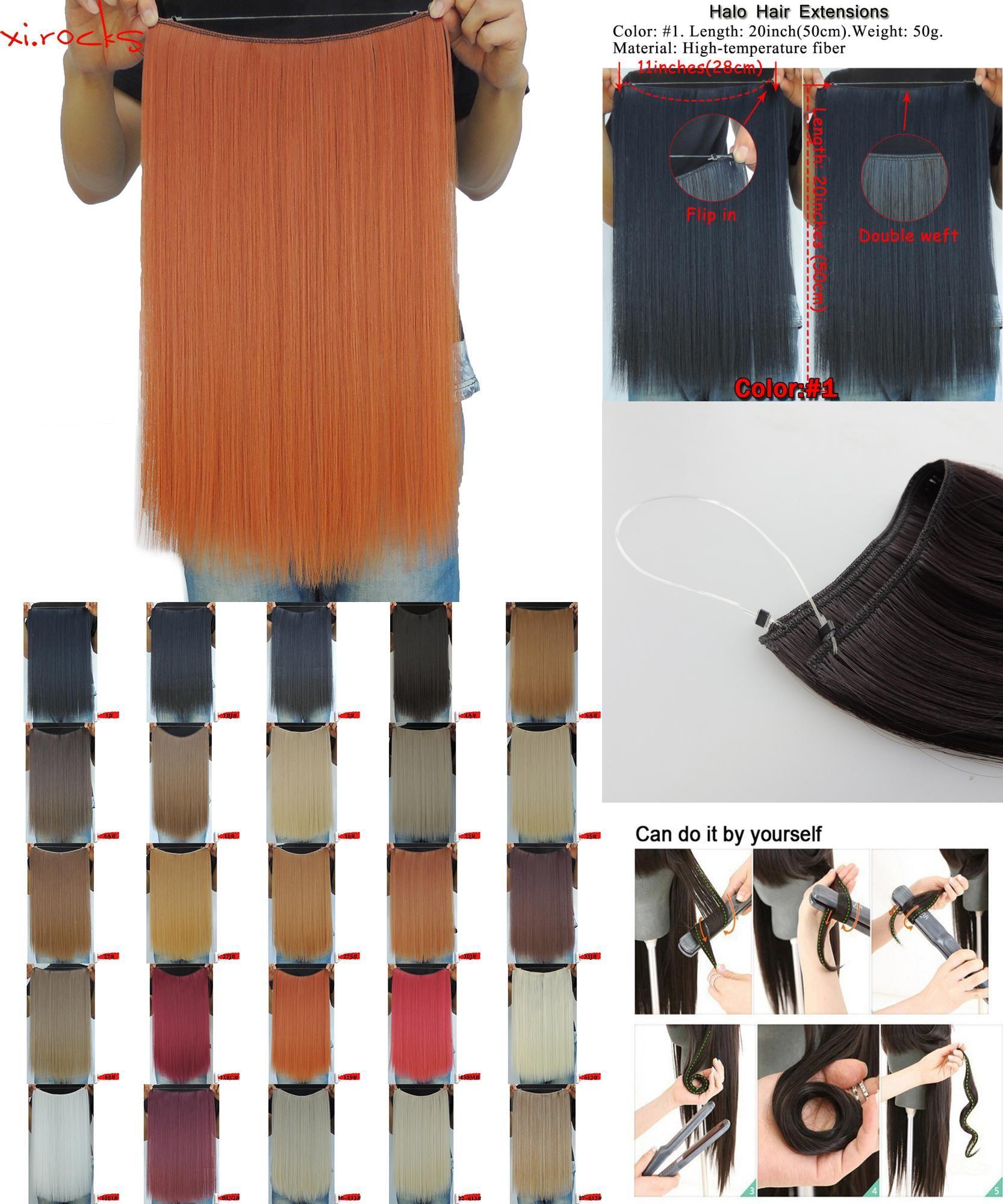 Visit To Buy Xicks 25 Colors 50g 20inch Halo Elastic Rope Hair
