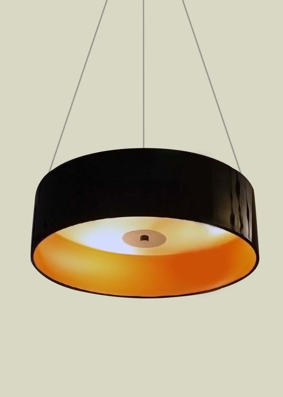 A Black Round Pendant Light by MACY. Application Ideal