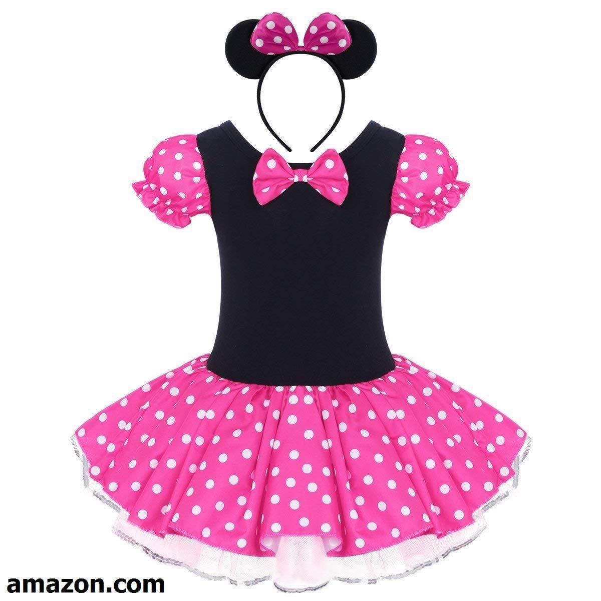 5fb0bb25d IWEMEK Toddlers Girls  Princess Polka Dots Birthday Party Leotard ...