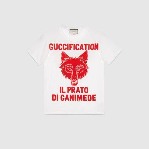94dd115dcb2 Il Prato di Ganimede Guccification print T-shirt - Gucci Gifts for Women  492347X3L339264
