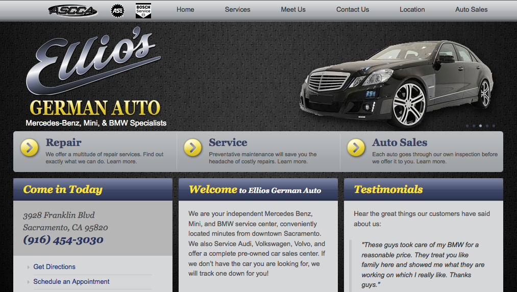 Ellios German Auto Cars For Sale Repair Mercedes Benz