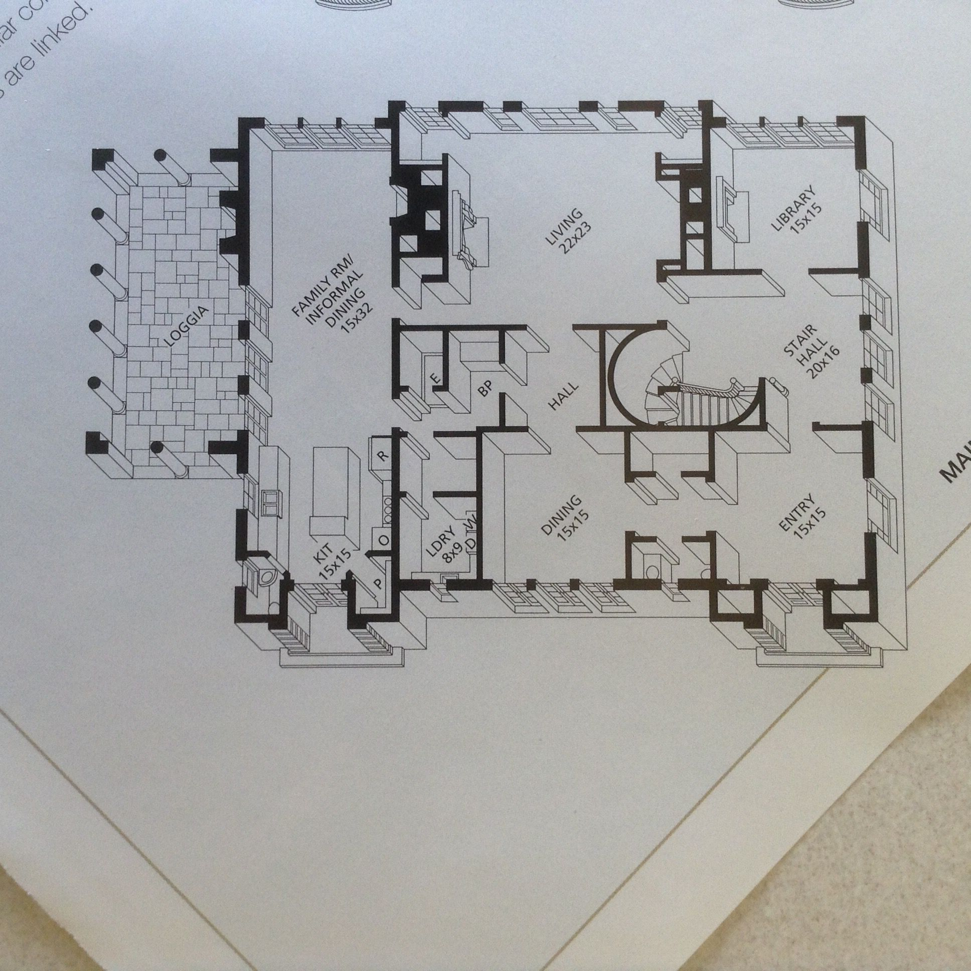 Harrison Residence Atlanta Vintage House Plans Apartment Floor Plans House Floor Plans