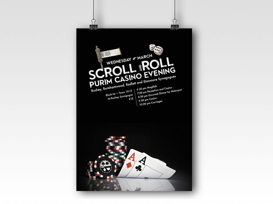Scroll & Roll Purim Casino
