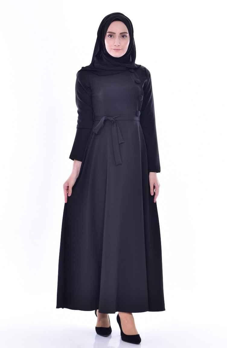 Sefamerve Kusakli Tesettur Elbise Modelleri Moda Tesettur Giyim Elbise Modelleri Elbise Moda Stilleri