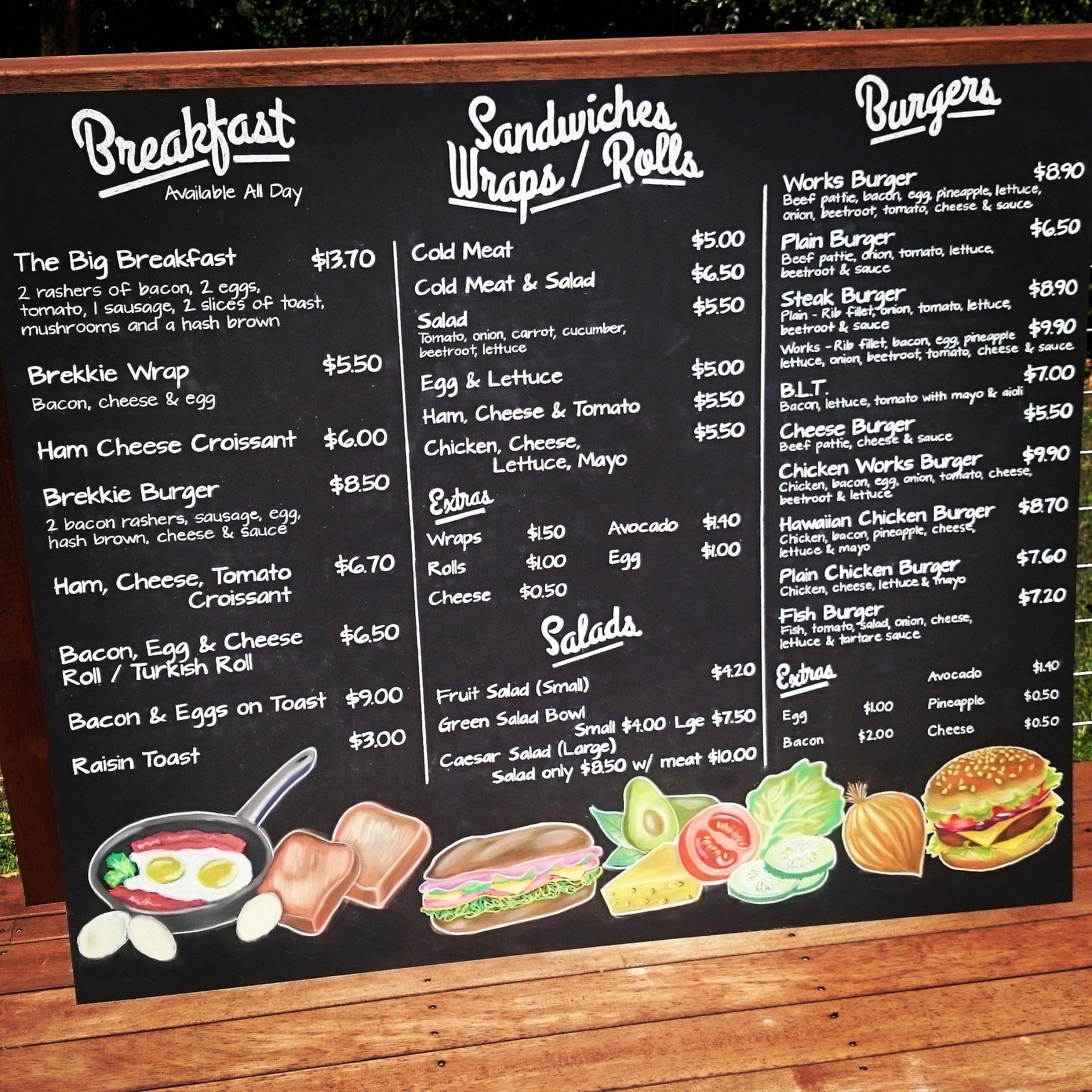 Menu Board For Lunchbox @ 53 In Northgate.