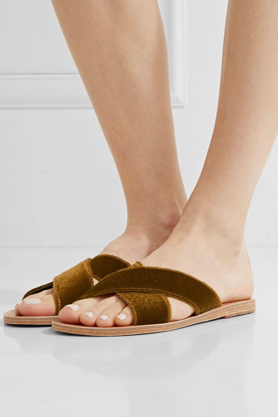 Ancient Greek Sandals Velvet Sandals 3tXI0odtj
