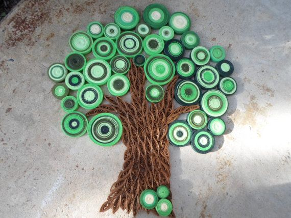 For A Wall In The House My Idea Is To Make A Very Large Scale Version Of This But With The Crocheted Pot Ho Crochet Wall Art Tree Wall Art Tree