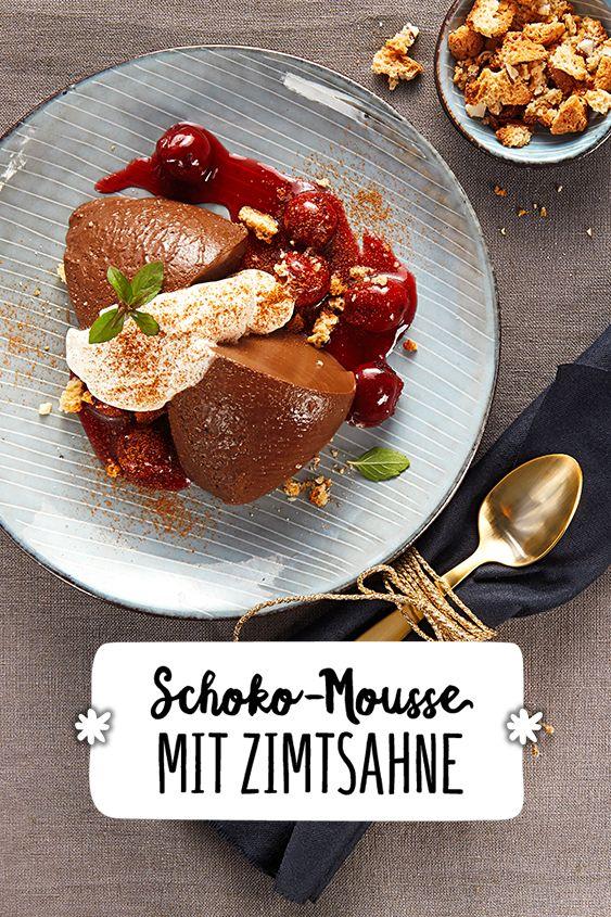 Weihnachtsessen Italien.Schoko Mousse Mit Zimtsahne Rezept Dessert Nachtisch