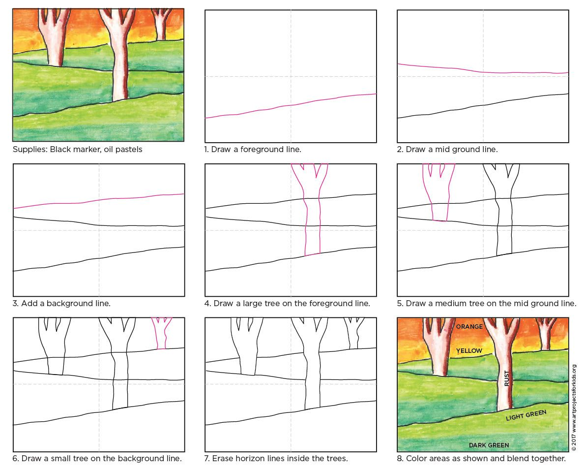 Landscape Drawing For Beginners