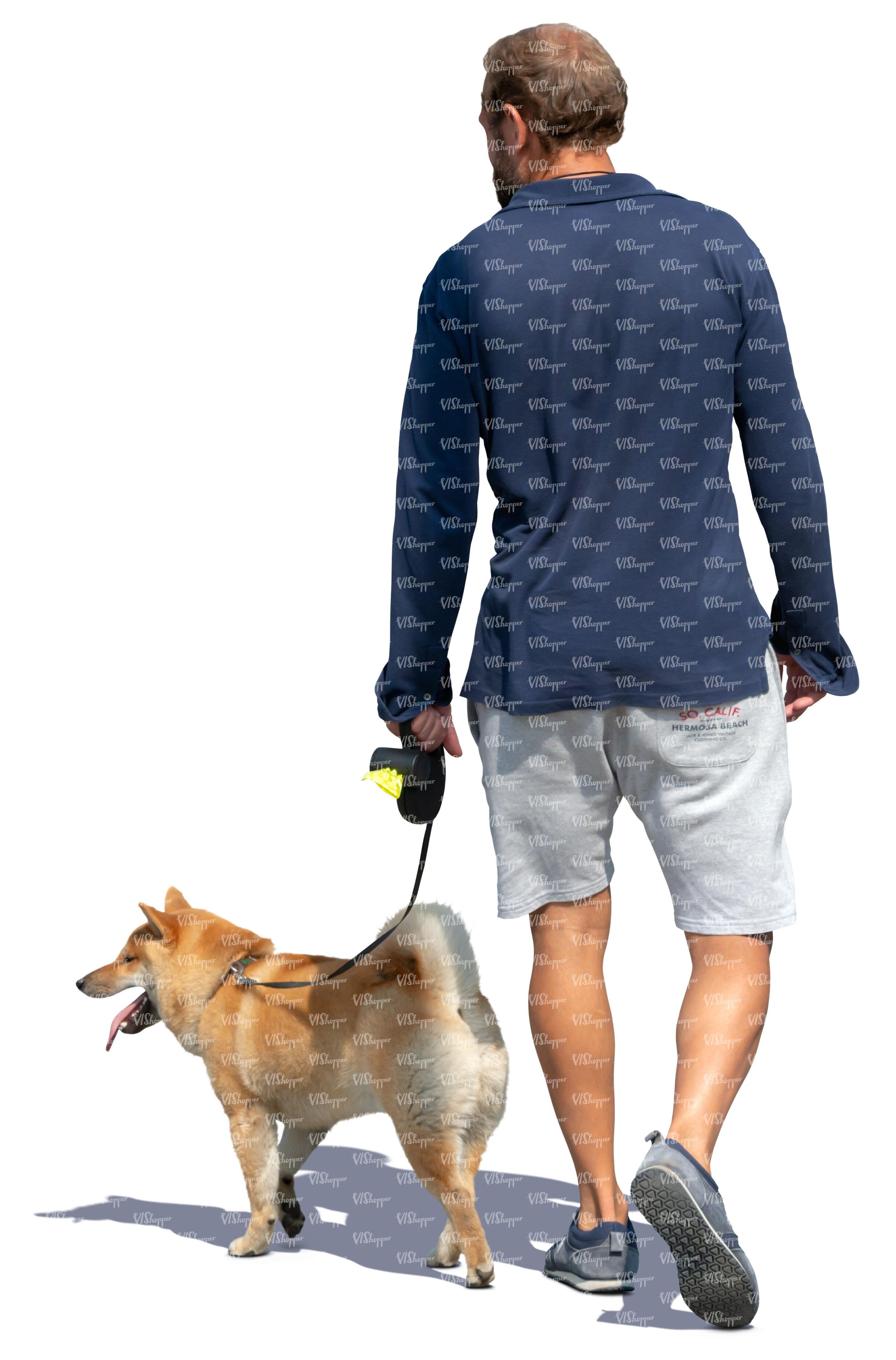 Man Dog People Png People Cutout Render People