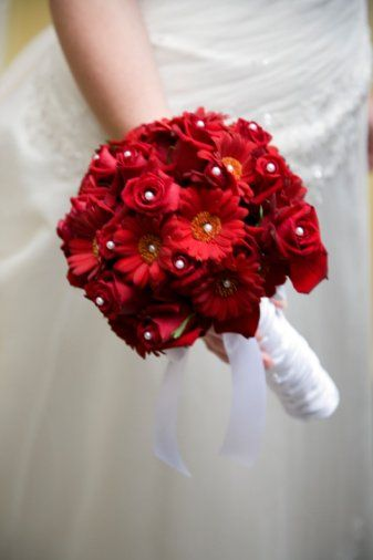 Red Bridal Bouquet Floral Wedding Bridal Bouquet