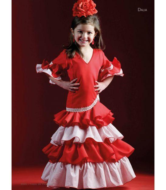 358eede3df Vestido de sevillanas Begonia Encaje en 2018