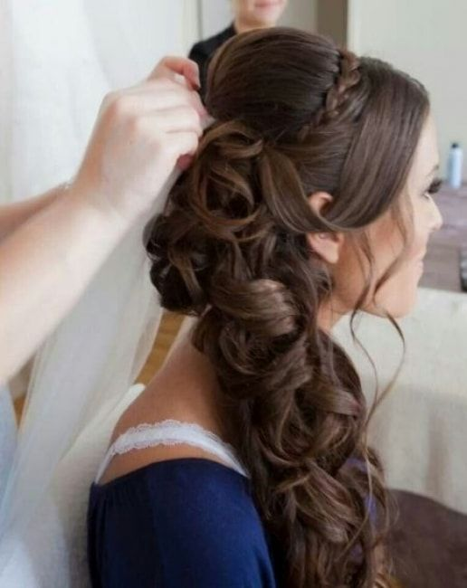 Épinglé par sara sur coiffure mariage Wedding hair side