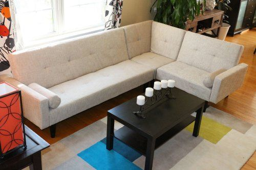 Left Right Changeable Sectional Beige Modern Contemporary Upholstered  Quality Sleeper 3 Piece Sofa Set Klick