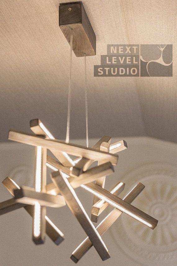 Wooden Chandelier Interstellar Led Pendant Led Loft Wooden Light Loft Designer Lighting Modern Lighting Wooden Modern Wooden Art Modern Deco ランプのデザイン