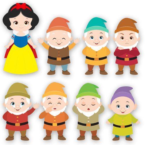 Los 7 Enanitos Ilustracion Buscar Con Google Enanos De Blancanieves Blancanieves Bebé Fiestas De Blancanives