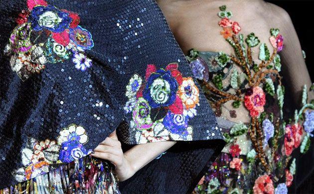 embroidery armani