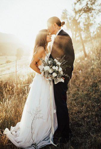 Beautiful Ideas Fall Wedding Photos ★ fall wedding photos romantic couple at sunset aubreebellephotography