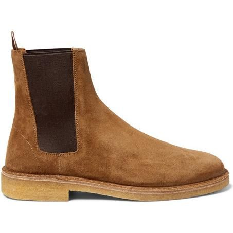 dcb25373eed Saint Laurent Cigar Suede Chelsea Boots as seen on David Beckham ...
