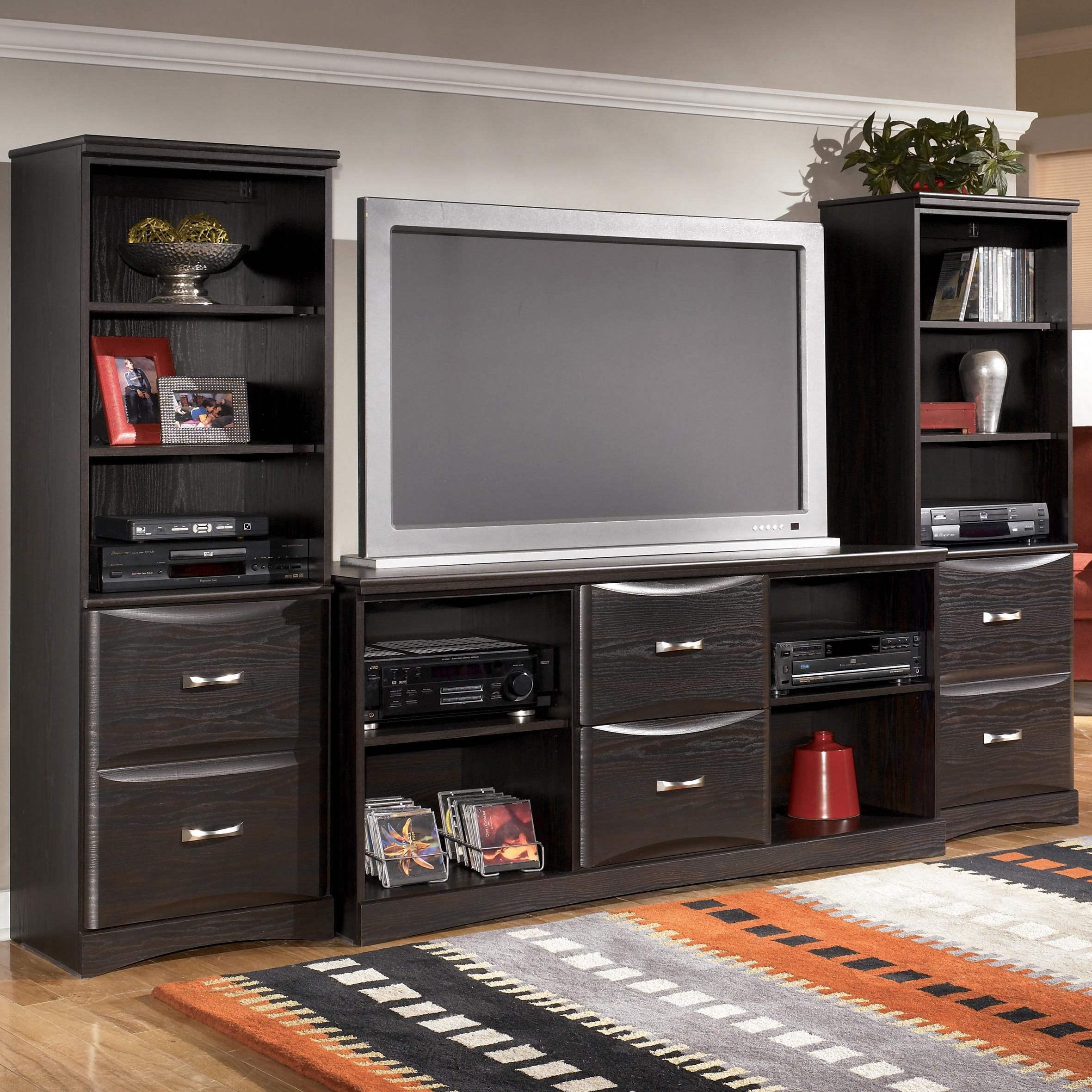 Black Entertainment Center Wall Unit allenton entertainment wall unitsignature designashley