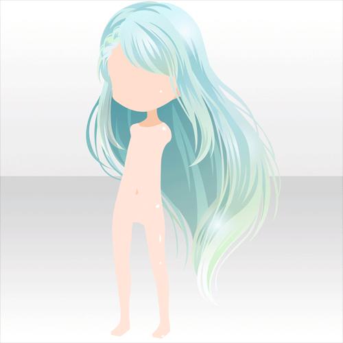 peinado largo anime hair light