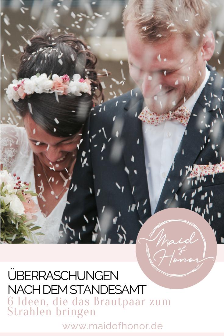 Uberraschung Nach Dem Standesamt 6 Wundervolle Ideen Standesamtliche Hochzeit Uberraschung Hochzeit Trauzeugin Uberraschung Fur Braut