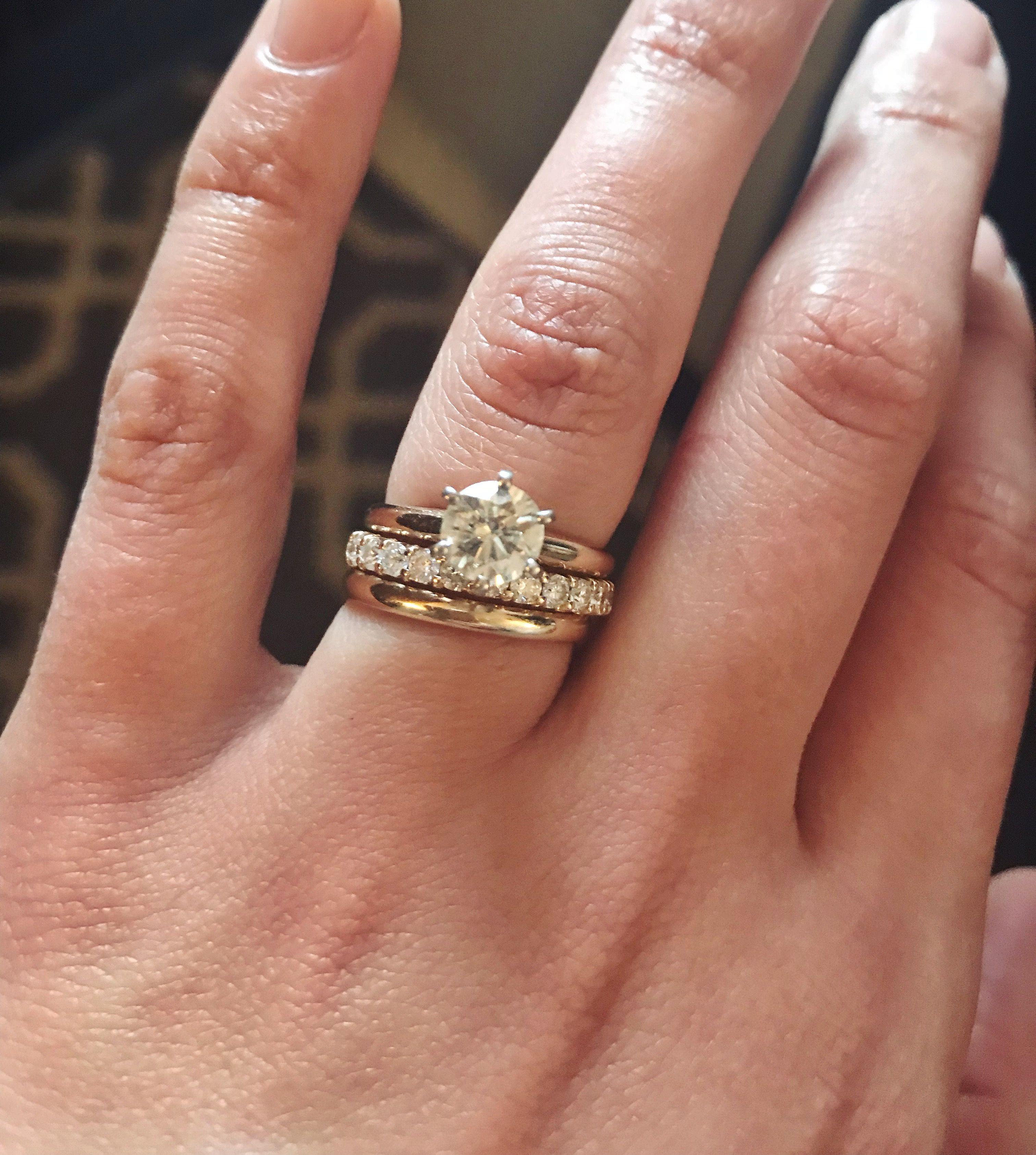 50+ Stacked wedding bands gold information