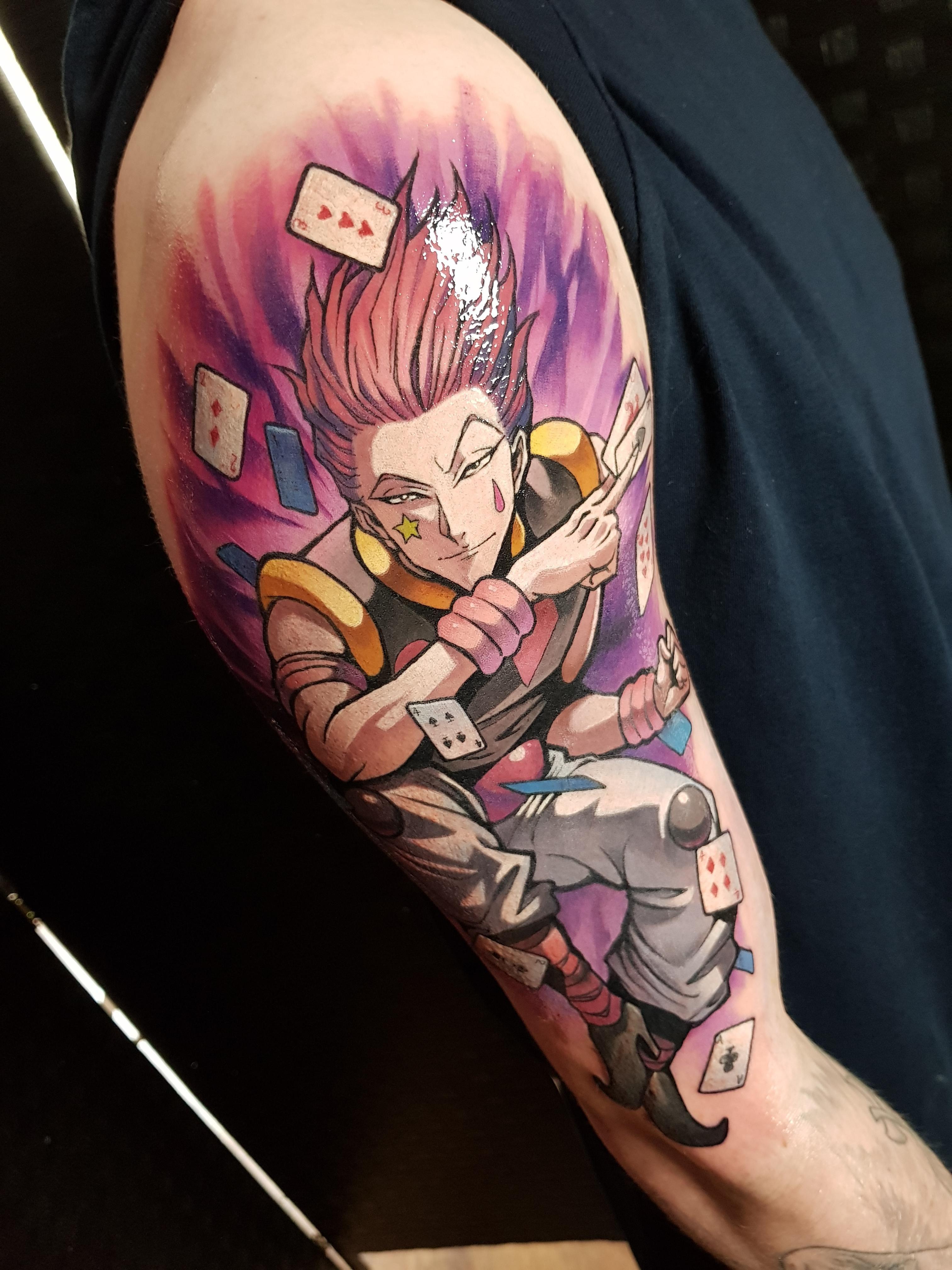 Hisoka tattoo by simon k bell liverpool uk hunter tattoo