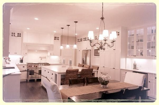 All white Kitchen, Custom inset white cabinets with Eco friendly ...