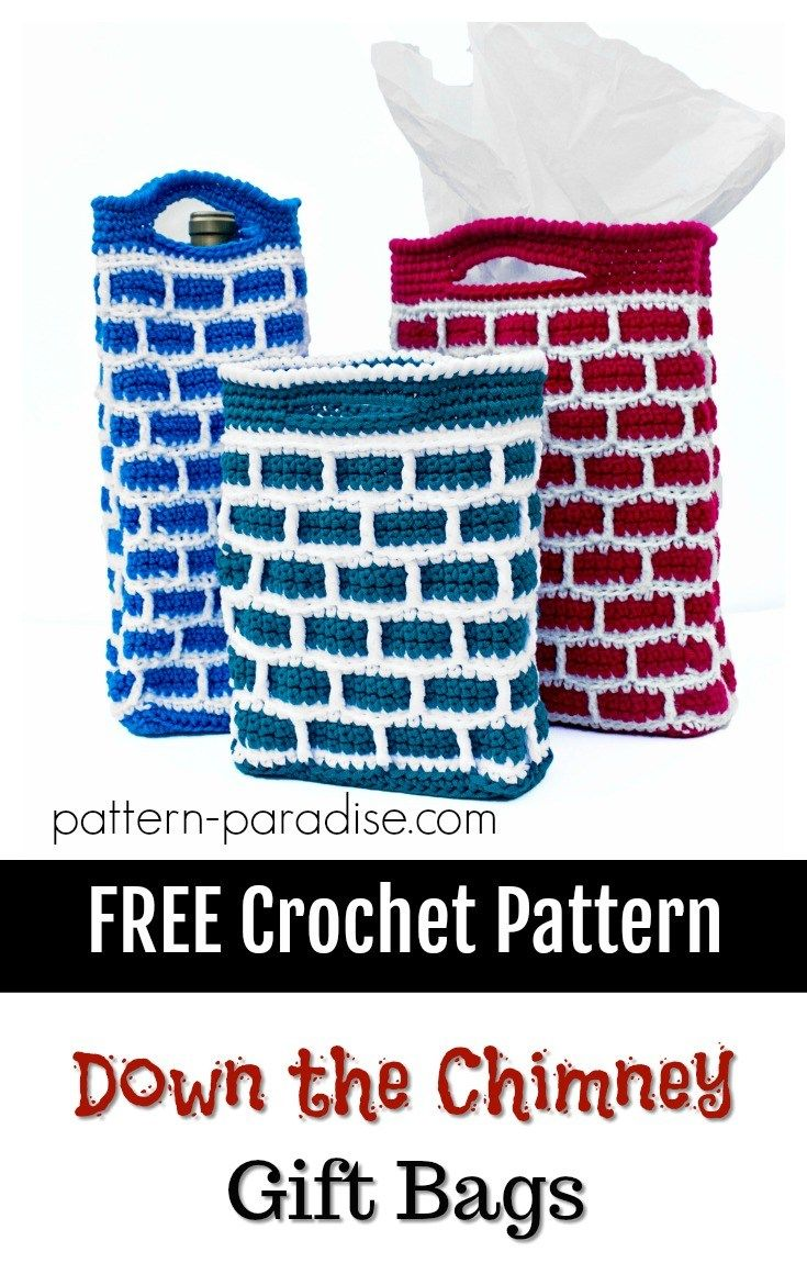 12weekschristmascal down the chimney gift bags pattern down the chimney gift bag by maria bittner free crochet pattern pattern paradise bankloansurffo Gallery