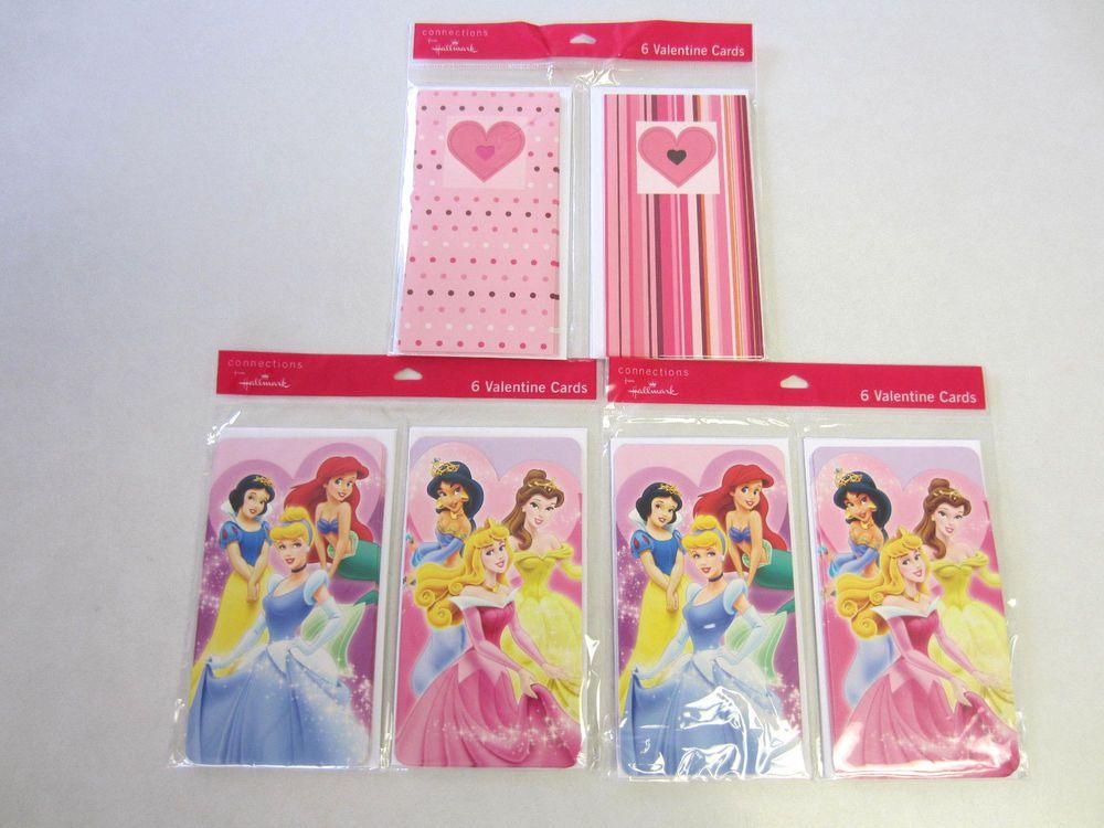 Hallmark Valentine Cards Lot 18 Disney Princess NEW CLEARANCE SALE #Hallmark #ValentinesDay