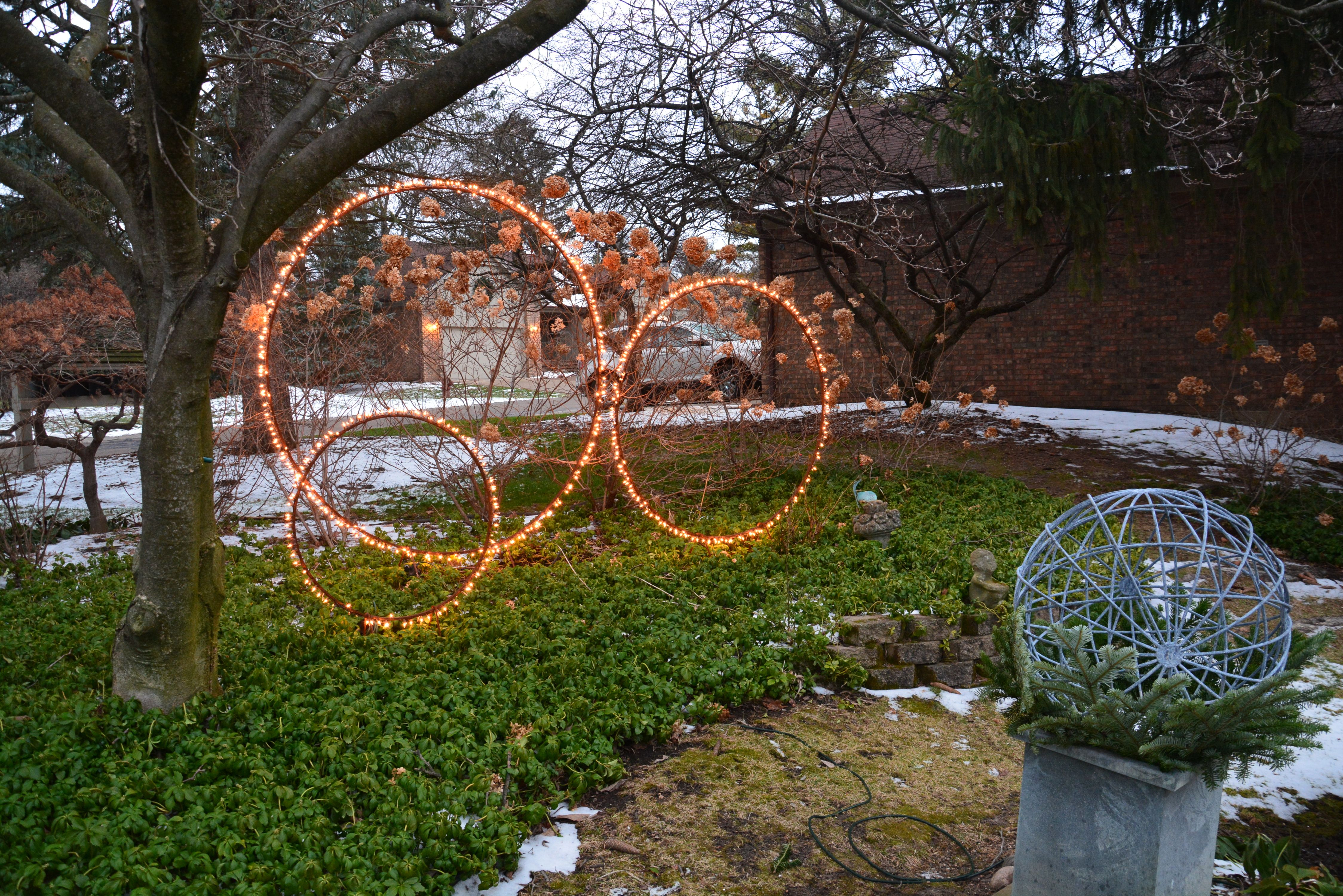 Rob\'s lit spheres have been a staple at Detroit Garden Works for a ...