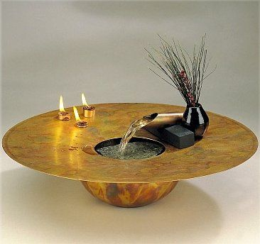 Decorate Your Abode With The Serenity Of Flowing Water Using The Water And  Fire Table Water