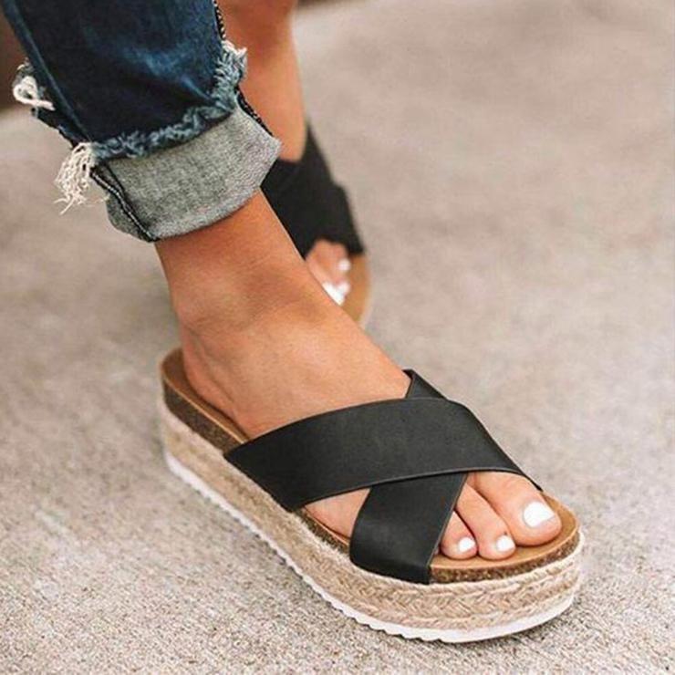 Details about  /Women Flip Flops Wedge Platform Slippers Casual Heeled Thong Sandals Shoe Summer